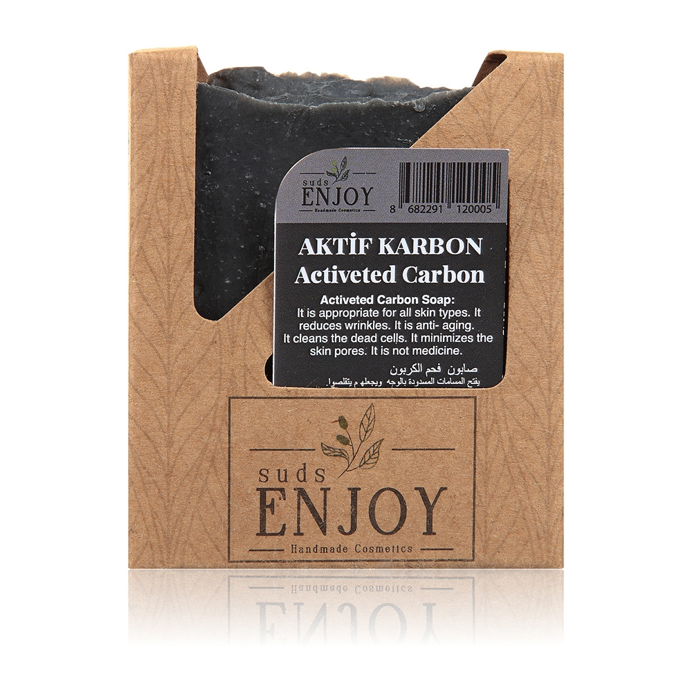Natural Active Carbon Coal Handmade Face, Hair And Body Soap
