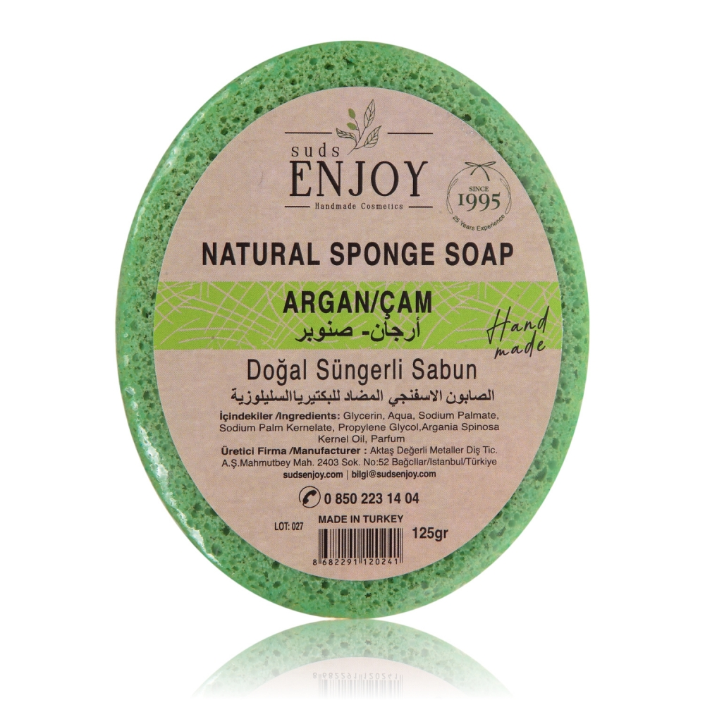 Natural Argan & Pine Handmade Shower Soap