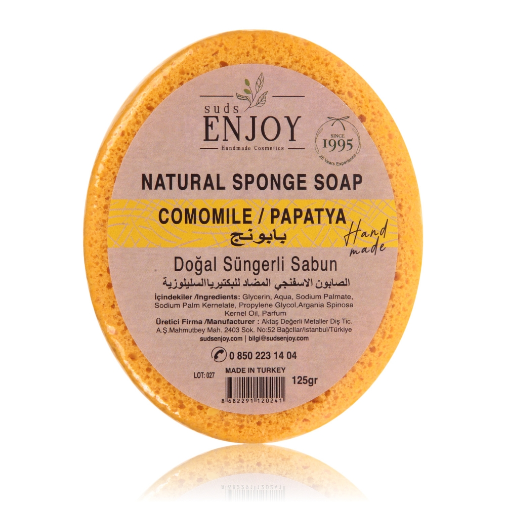 Natural Daisy Handmade Sponge Shower Soap