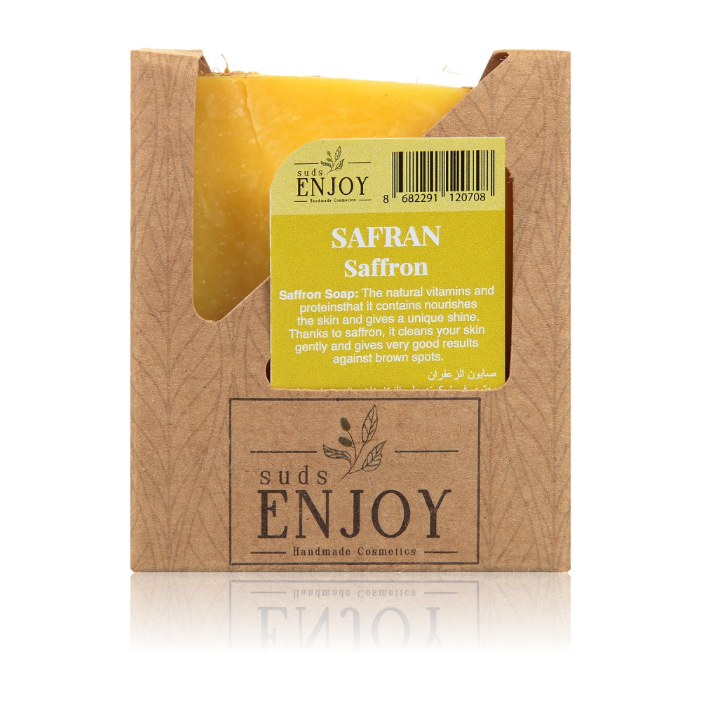 Natural Safran Handmade Face, Hair And Body Soap